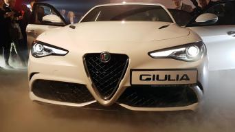 Alfa Romeo Giulia Quadrifoglio pristatymas Vilniuje/Vytauto Pilkausko nuotrauka