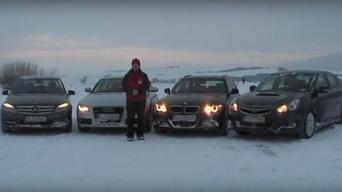 Testas ant sniego