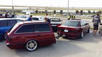 BMW E34 su priekaba