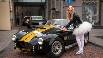 """""""Shelby Cobra 427"""" replika/Vytauto Pilkausko nuotrauka"""