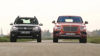 Dacia Duster ir Bentley Bentayga