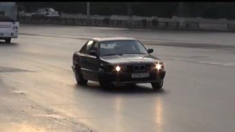 Gruzinas siautėja su BMW M5