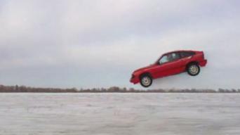 Honda CRX šuolis Rusnėje
