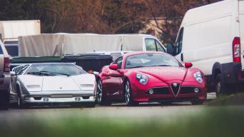 Lamborghini ir Alfa Romeo