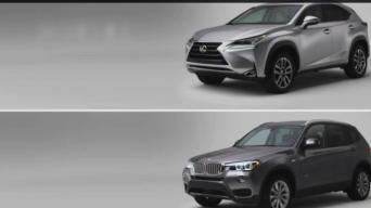Lexus NX ir BMW X3