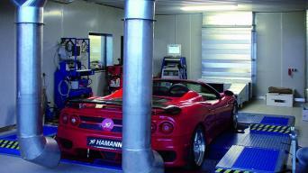 Automobilio variklio galios matavimas