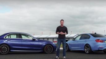 BMW M3 ir MB C63 S AMG