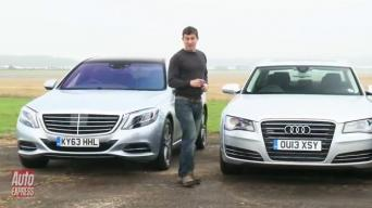 S klasės Mercedes-Benz vs Audi A8