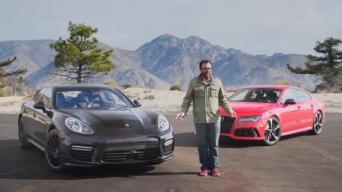 """Audi RS7"" prieš ""Porsche Panamera Turbo"""