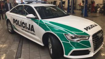 Lietuvos policijos tarnybinis automobilis/Lietuvos policijos nuotrauka