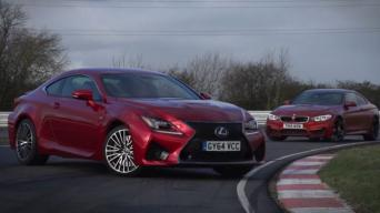 Lexus RC-F ir BMW M4