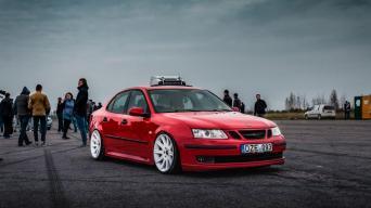 Saab ir Volvo sąskrydis/Luko Laurikiečio nuotrauka