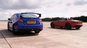 Subaru WRX STI vs Jaguar F-Type