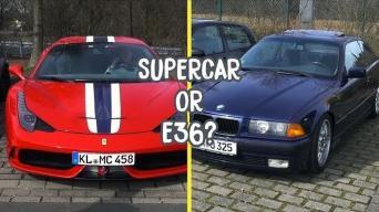 BMW E36 ar Ferrari