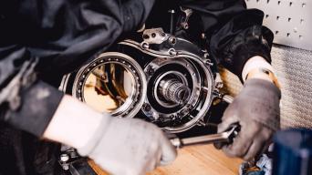 Toyota Gazoo Racing Hilux greičių dėžė/Ryčio Šeškaičio nuotrauka