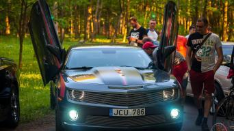 Amerikietiškų automobilių susitikimas/Vytauto Pilkausko nuotrauka