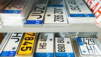 Automobilių numeriai/Regitros nuotr.