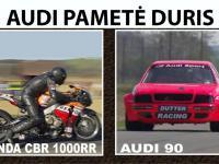 Audi 90 ir Honda CBR