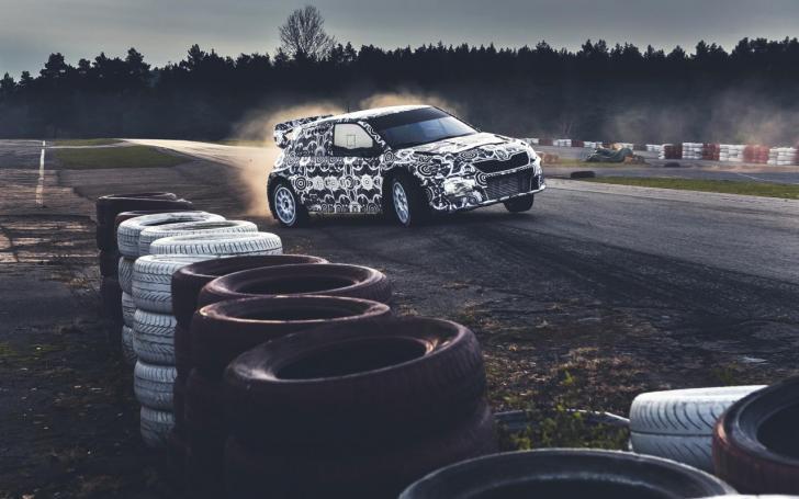 Škoda Fabia WRX testų metu